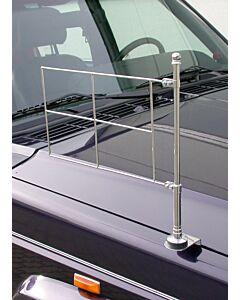 Chrom, standarten Halter für die rechte Fahrzeugseite, festverschraubbar mit Rahmen