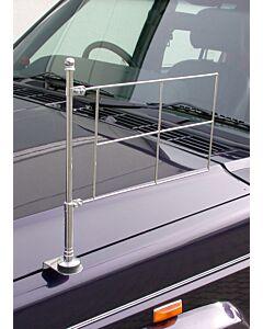 Chrom, standarten Halter für die linke Fahrzeugseite, festverschraubbar mit Rahmen