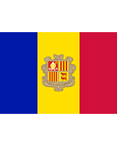 Indoor-Flag: Andorra 90x150cm