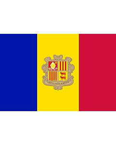 Drapeau: Andorre |  drapeau paysage | 1.5m² | 100x150cm