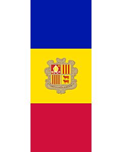 Drapeau: Andorre |  portrait flag | 3.5m² | 300x120cm