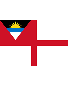 Bandera: Coastguard Ensign of Antigua and Barbuda |  bandera paisaje | 0.06m² | 20x30cm