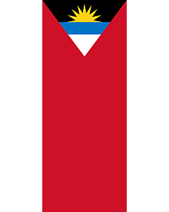 Vertical Hanging Swivel Crossbar Banner Flag: Antigua and Barbuda |  portrait flag | 3.5m² | 38sqft | 300x120cm | 10x4ft
