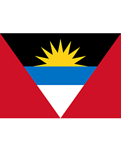 Flag: Antigua and Barbuda |  landscape flag | 0.7m² | 7.5sqft | 70x100cm | 2x3ft