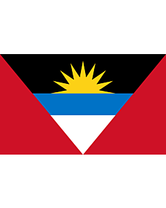 Flag: Antigua and Barbuda |  landscape flag | 1.35m² | 14.5sqft | 90x150cm | 3x5ft