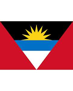 Flag: Antigua and Barbuda |  landscape flag | 1.5m² | 16sqft | 100x150cm | 3.5x5ft