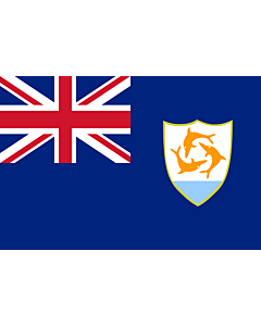 Flag: Anguilla |  landscape flag | 0.375m² | 4sqft | 50x75cm | 1.5x2.5ft