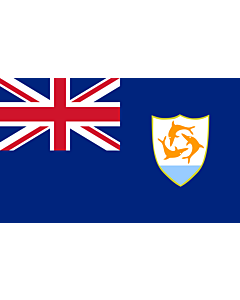 Flag: Anguilla |  landscape flag | 1.35m² | 14.5sqft | 90x150cm | 3x5ft
