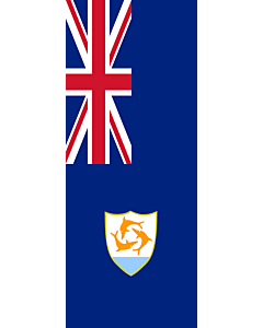 Vertical Hanging Swivel Crossbar Banner Flag: Anguilla |  portrait flag | 3.5m² | 38sqft | 300x120cm | 10x4ft