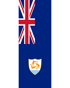 Vertical Hanging Swivel Crossbar Banner Flag: Anguilla |  portrait flag | 6m² | 64sqft | 400x150cm | 13x5ft