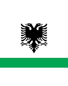 Bandera: Albanian Coast Guard Ensign |  bandera paisaje | 1.35m² | 90x150cm