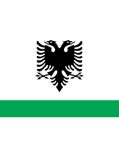 Flag: Albanian Coast Guard Ensign |  landscape flag | 2.16m² | 23sqft | 120x180cm | 4x6ft