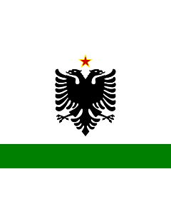 Flag: Albanian Coast Guard Ensign 1958-1992 |  landscape flag | 1.35m² | 14.5sqft | 90x150cm | 3x5ft