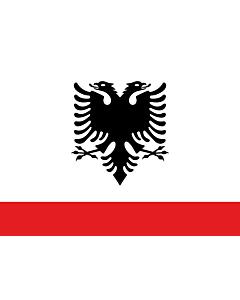 Bandera: Naval Ensign of Albania |  bandera paisaje | 1.35m² | 90x150cm