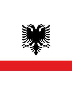 Flagge: XL Naval Ensign of Albania  |  Querformat Fahne | 2.16m² | 120x180cm