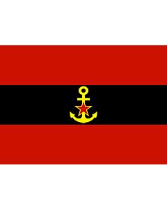 Bandera: Naval Ensign of Albania 1946-1954 |  bandera paisaje | 2.16m² | 120x180cm