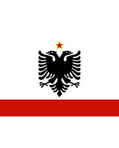 Bandera: Naval Ensign of Albania 1958-1992 |  bandera paisaje | 2.16m² | 120x180cm