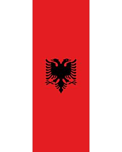 Bandera: Bandera vertical con manga cerrada para potencia Albania |  bandera vertical | 6m² | 400x150cm