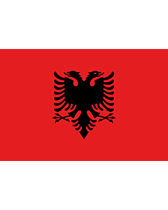 Bandera: Albania |  bandera paisaje | 0.135m² | 30x45cm