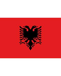 Bandera: Albania |  bandera paisaje | 0.375m² | 50x75cm