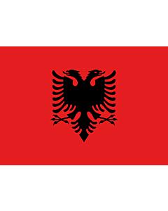 Bandera: Albania |  bandera paisaje | 0.7m² | 70x100cm