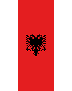 Bandera: Albania |  bandera vertical | 3.5m² | 300x120cm