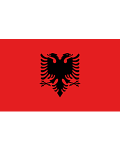 Table-Flag / Desk-Flag: Albania 15x25cm