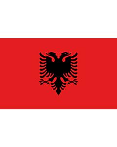 Bandera de Mesa: Albania 15x25cm