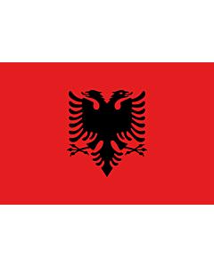 Bandera: Albania |  bandera paisaje | 0.06m² | 20x30cm