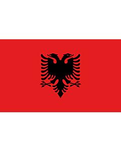 Bandera: Albania |  bandera paisaje | 1.35m² | 90x150cm
