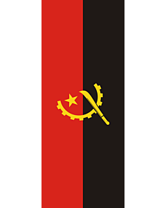 Vertical Hanging Beam Flag: Angola |  portrait flag | 3.5m² | 38sqft | 300x120cm | 10x4ft