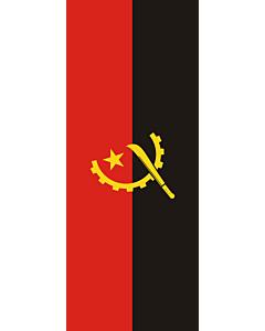 Ausleger-Flagge:  Angola  |  Hochformat Fahne | 3.5m² | 300x120cm