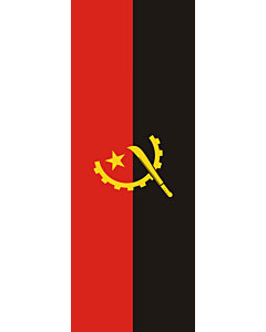 Vertical Hanging Beam Flag: Angola |  portrait flag | 6m² | 64sqft | 400x150cm | 13x5ft