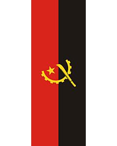 Ausleger-Flagge:  Angola  |  Hochformat Fahne | 6m² | 400x150cm