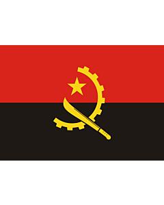 Flag: Angola |  landscape flag | 0.7m² | 7.5sqft | 70x100cm | 2x3ft