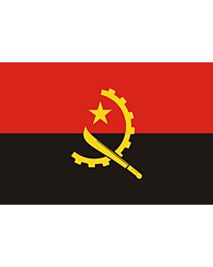 Flagge: Medium Angola  |  Querformat Fahne | 0.96m² | 80x120cm