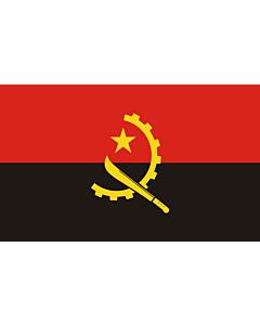 Flag: Angola |  landscape flag | 1.35m² | 14.5sqft | 90x150cm | 3x5ft