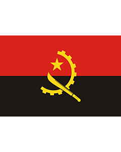 Flag: Angola |  landscape flag | 1.5m² | 16sqft | 100x150cm | 3.5x5ft