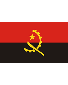 Flag: Angola |  landscape flag | 3.75m² | 40sqft | 150x250cm | 5x8ft