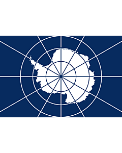 Flagge: XL Antarctic Treaty | Tratado Antártico  |  Querformat Fahne | 2.16m² | 120x180cm