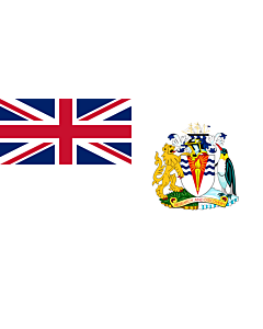 Flagge:  British Antarctic Territory | Territoire antarctique britannique | Territorio antartico britannico | Bryttisca Antarctisca Landscipes | Tiriogaeth Brydeinig yr Antarctig | The Breetish Antarctic Territory  |  Querformat Fahne | 0.06m² | 17x34cm