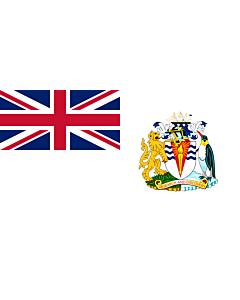 Flagge: Large British Antarctic Territory | Territoire antarctique britannique | Territorio antartico britannico | Bryttisca Antarctisca Landscipes | Tiriogaeth Brydeinig yr Antarctig | The Breetish Antarctic Territory  |  Querformat Fahne | 1.35m² | 80x1