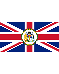 Flagge: Large Commissioner of the British Antarctic Territory | British Antarctic Territory  |  Querformat Fahne | 1.35m² | 80x160cm