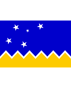 Table-Flag / Desk-Flag: Magallanes and Chilean Antarctica Region, Chile 15x25cm