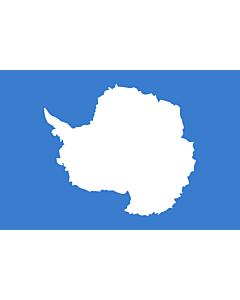 Flagge: XS Antarktis  |  Querformat Fahne | 0.375m² | 50x75cm
