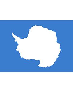 Flagge: Small Antarktis  |  Querformat Fahne | 0.7m² | 70x100cm