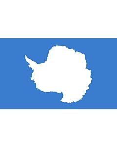 Flagge: Large Antarktis  |  Querformat Fahne | 1.35m² | 90x150cm