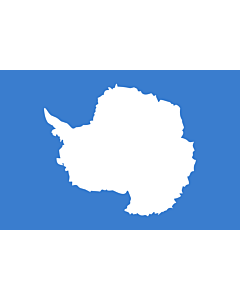 Flagge: XL Antarktis  |  Querformat Fahne | 2.16m² | 120x180cm