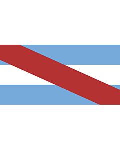 Flagge: XXS Entre Ríos (Provinz)  |  Querformat Fahne | 0.24m² | 35x70cm