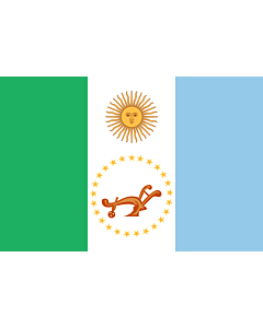 Flagge: XXS Chaco (Provinz)  |  Querformat Fahne | 0.24m² | 40x60cm